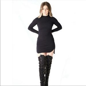 Black ribbed dress size M